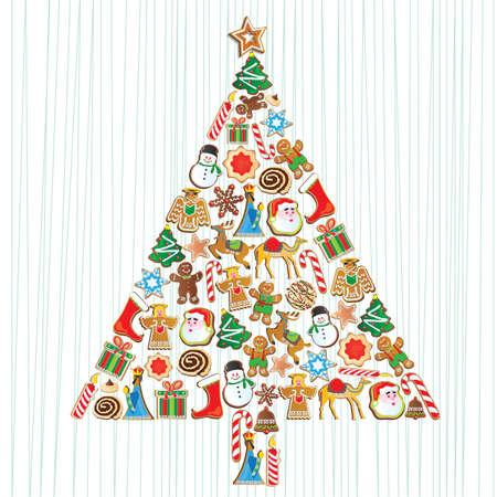 Leuke Cookie Kerstboom met cookie ornamenten