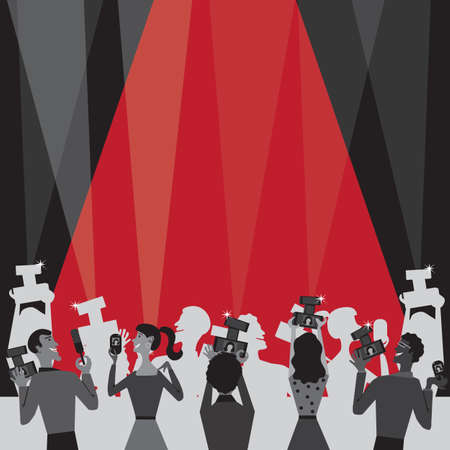 paparazzi: Hollywood Movie Award Party Invitation Illustration