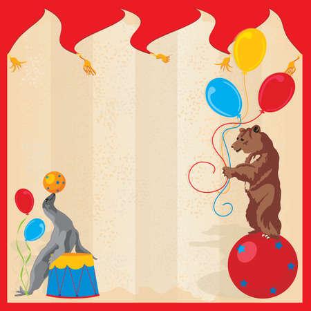 палатка: Выполнение цирковых животных Birthday Party Приглашения