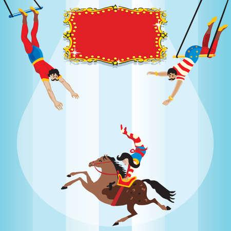 cirkusz: Circus repülő trapéz Birthday Party Meghívó