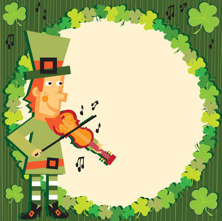 St. Patrick's day leprechaun party invitation Vector