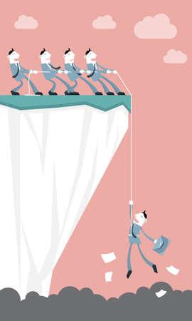 Business Assistance   Teamwork - Vector illustration