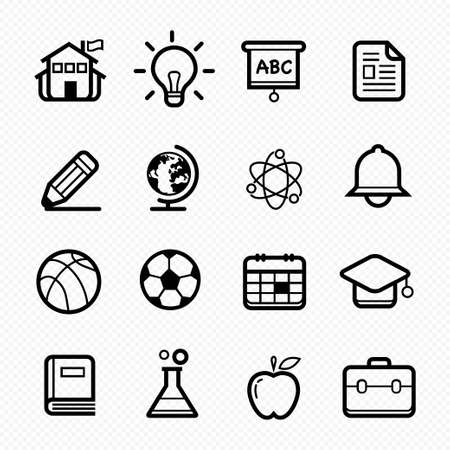 ducation symbol line icon on white background Stock Vector - 23015227