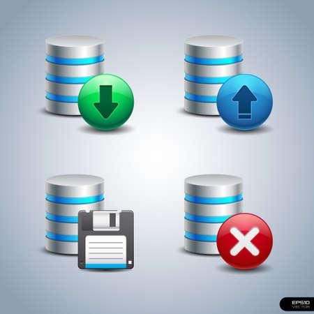 database icon: Database Icon set 2 Illustration