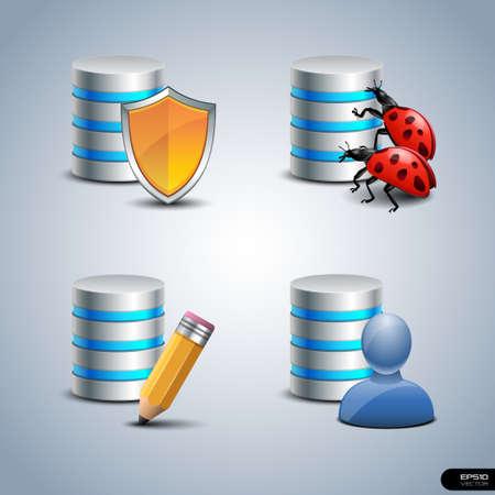 database icon: Database Icon set 4