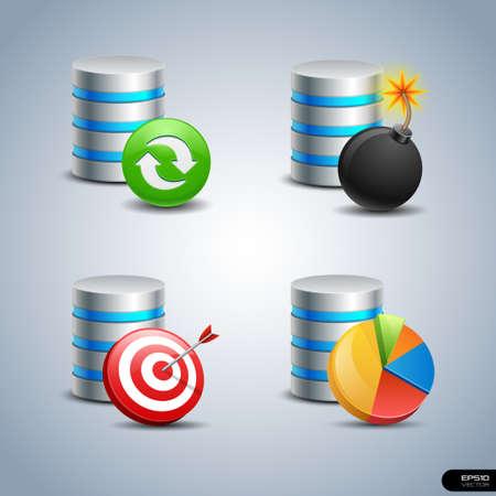 Database Icon set 7