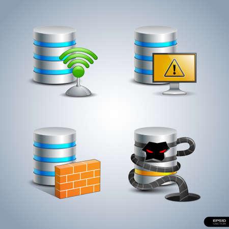 Database Icon set 8
