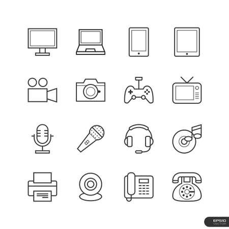 electronic device: Electronic device Icons set Illustration