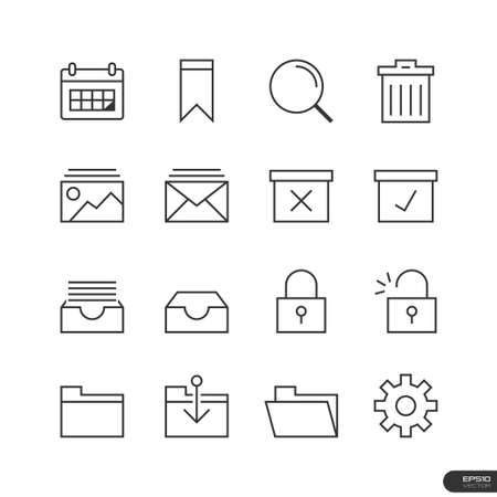 trashcan: Business   Office Icons set