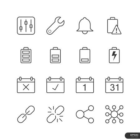 Application interface Icons set Vector