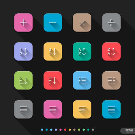 Flat icons for Web   Mobile   23 UI Elements 2 Vector