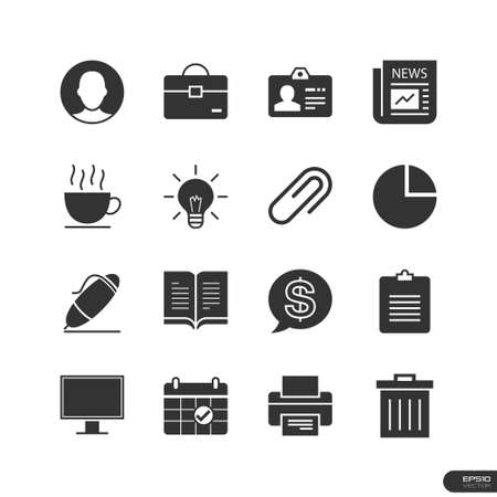 Office   Marketing Icons set Vector