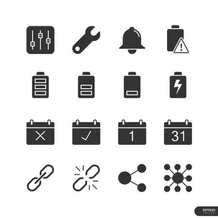 interface icons: Icons Application Interface set