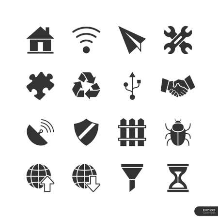 Website   Mobile application Icons set Vector
