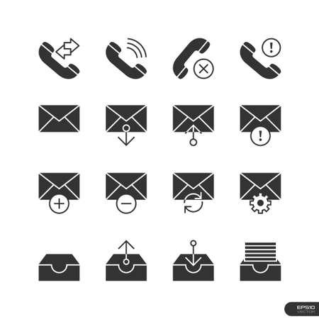 ending of service: Web   Mobile interface Icons set Illustration
