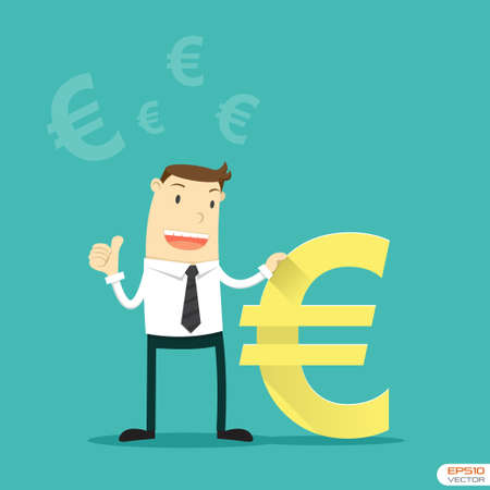 Businessman with Euro sign Vector