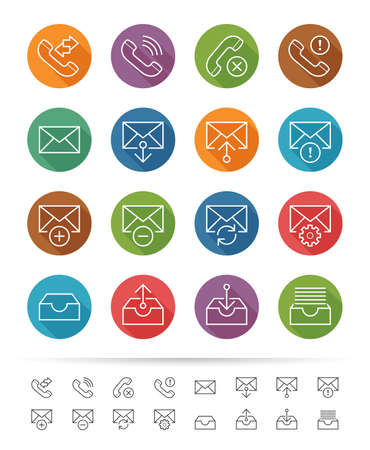 Simple line style : Web & Mobile interface icons set Illustration