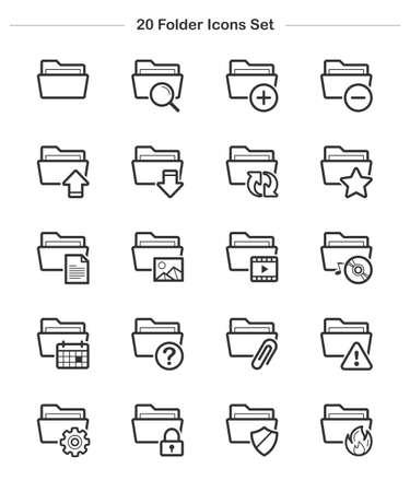 agenda: Line icon - Folder icons set, Bold