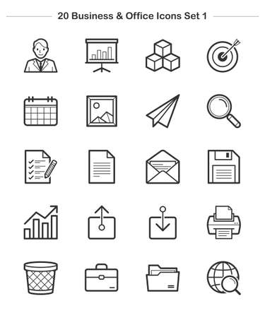 Line icon - Business & Office 1, Bold Illustration