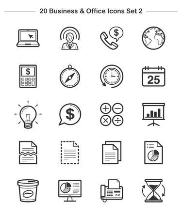 calandar: Line icon - Business & Office 2, Bold