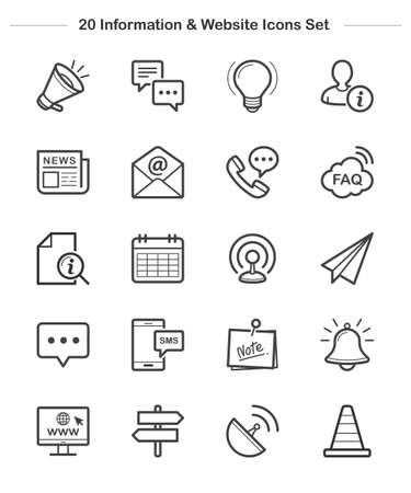 Line icon - Information & Website, Bold