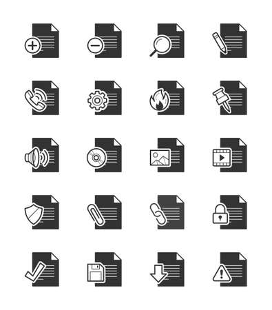 uploading: Document  File icon on White Background Vector Illustration Illustration