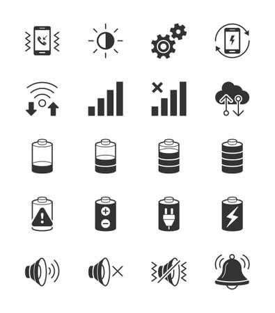 shake off: Mobile Phone Notification icon on White Background - Vector Illustration Illustration