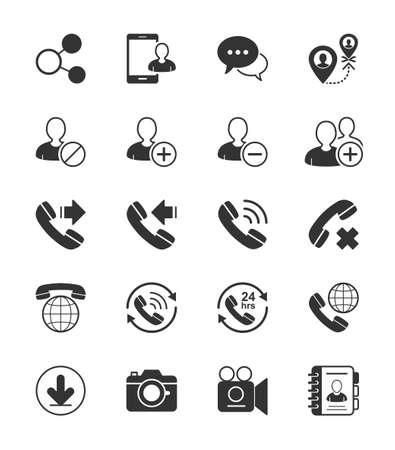 social gathering: Social Communication icon on White Background - Vector Illustration Illustration