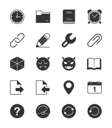 general: General icons Set 2 on White Background - Vector Illustration Illustration