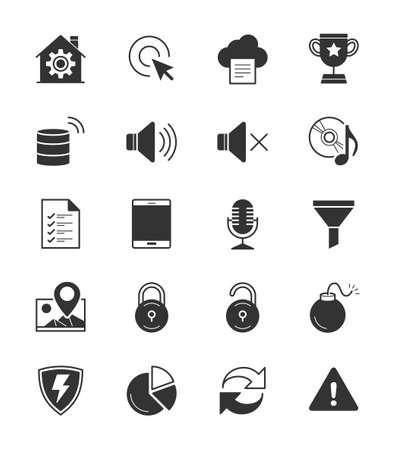 general warning: General icons Set 3 on White Background - Vector Illustration Illustration