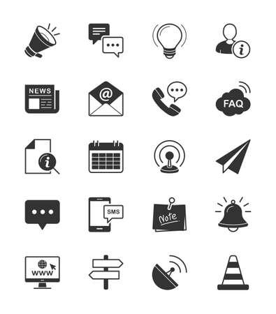 Information  Website icon on White Background - Vector Illustration