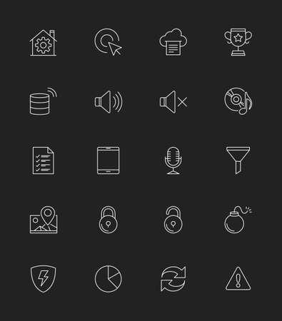 general: General icons Set, Thin line - Illustration