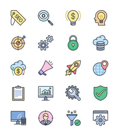 keywords link: SEO  Internet icons - Vector Illustration Illustration