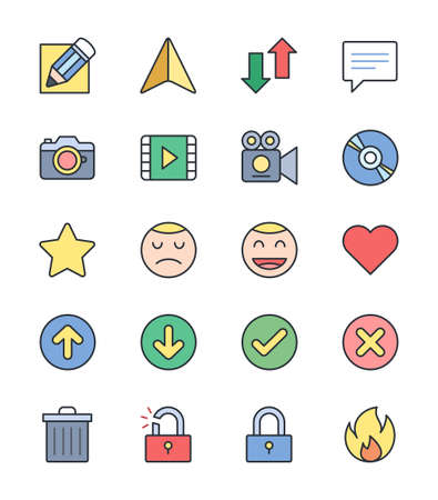 general: General icons - Vector Illustration