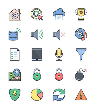 general warning: General icons - Vector Illustration