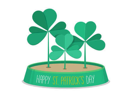 leafed: 3 leaf clover. Saint Patricks Day