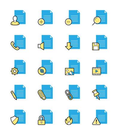 document file: Document  File icons, Monochrome color