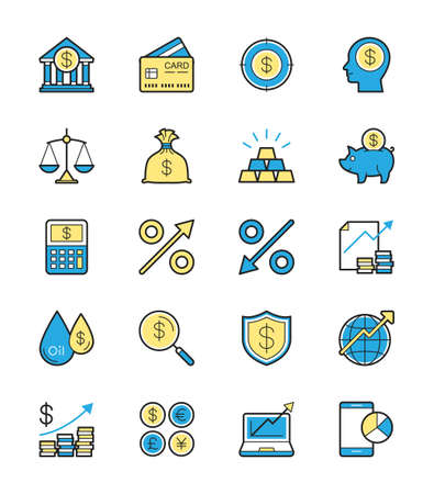 vaulted door: Business Finance icon Illustration