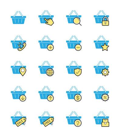 shopping basket: Shopping Basket icon Illustration