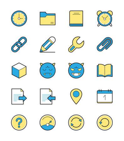 general: General icon, Monochrome color set 2 - Vector Illustration Illustration