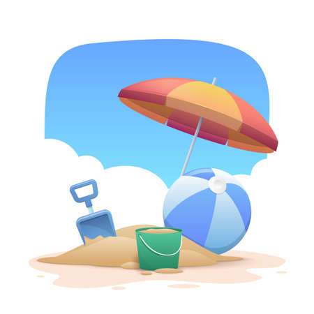 Summer holidays beach background