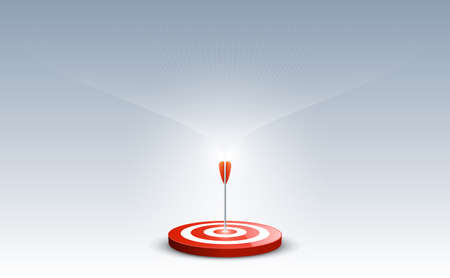 Target with arrow. Targets hit in the center by an arrow with abstract background. Concept target of business and marketing. Vector illustration Illustration
