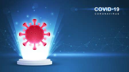 Coronavirus COVID-19. Coronavirus outbreak and coronaviruses influenza background. Vector Illustration.