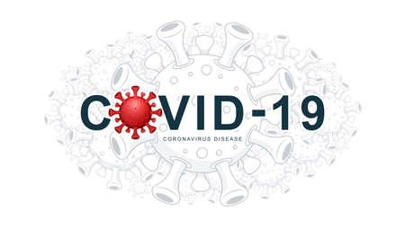 COVID-19 Virus. Coronavirus disease. Virus background wallpaper. Vector Illustration. Illustration