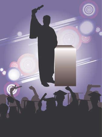 卒業のお祝い、ベクトル描画