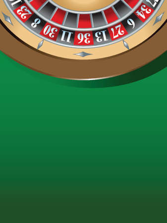 illustration of a roulette table, gambling concept Ilustrace