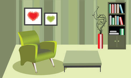 illustration of a nostalgic style room