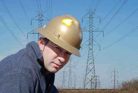 male worker in industrial environment photo