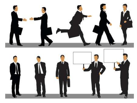 illustratie van de zakenman en zakenvrouw