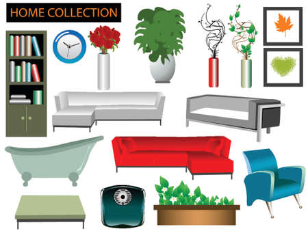illustration of household items